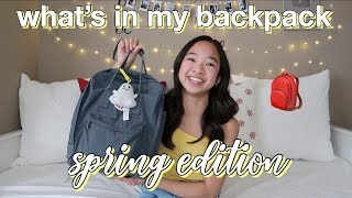 What's in my Backpack! Spring Edition | Nicole Laeno