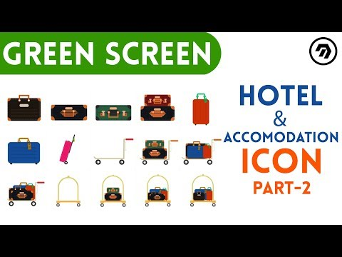Green Screen Hotel & accommodation Icon Part-2 | mrstheboss