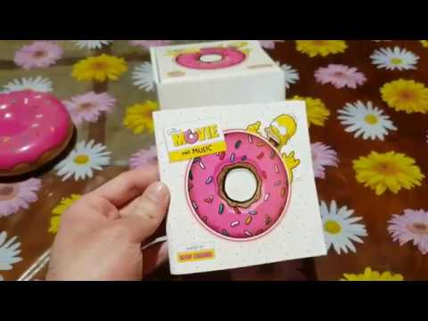 The Simpsons Movie The Music Soundtrack Limited Special Edition Doughnut Cd Unboxing Youtube