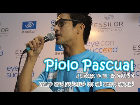 Piolo Pascual x Essilor Vision Foundation: Eye Can Succeed Campaign