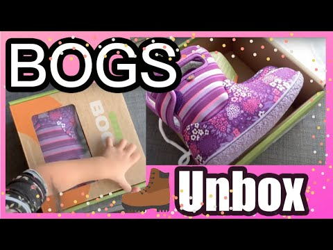 Unbox Baby BOGS - baby boots BOGS - 100% Waterproof - Boots for Toddler- PUT them on himself/herself