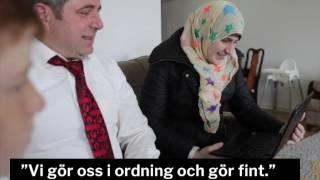 Syrisk familj får glädjebesked