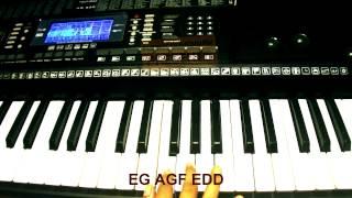 Teri Meri Bodyguard (2011) EASIEST Piano Tutorial + Notes (1.2min) 720p HD
