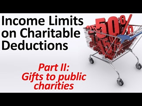 Income Limits On Charitable Deductions 2: Gifts To Public Charities (updated)