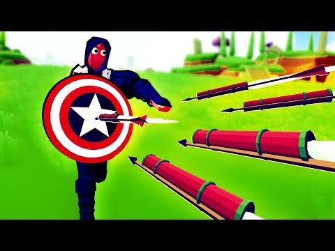 TABS Mods - How Strong is Captain America's Shield?! - Totally Accurate Battle Simulator