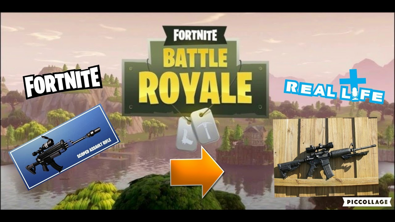 Fortnite Guns In Real Life Youtube
