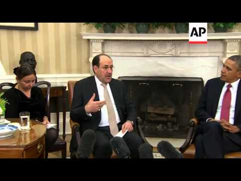 President Barack Obama and Iraqi Prime Minister Nouri al-Maliki on Friday discussed ways they can wo
