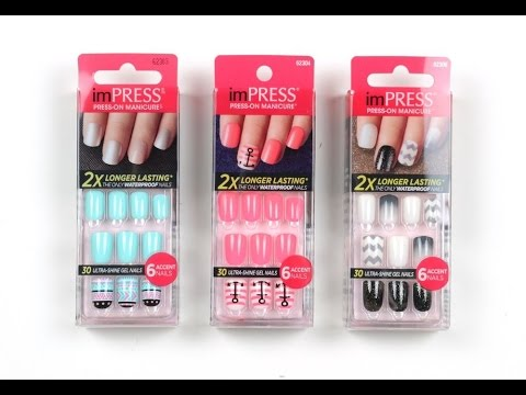 Impress press on nails | Review - YouTube