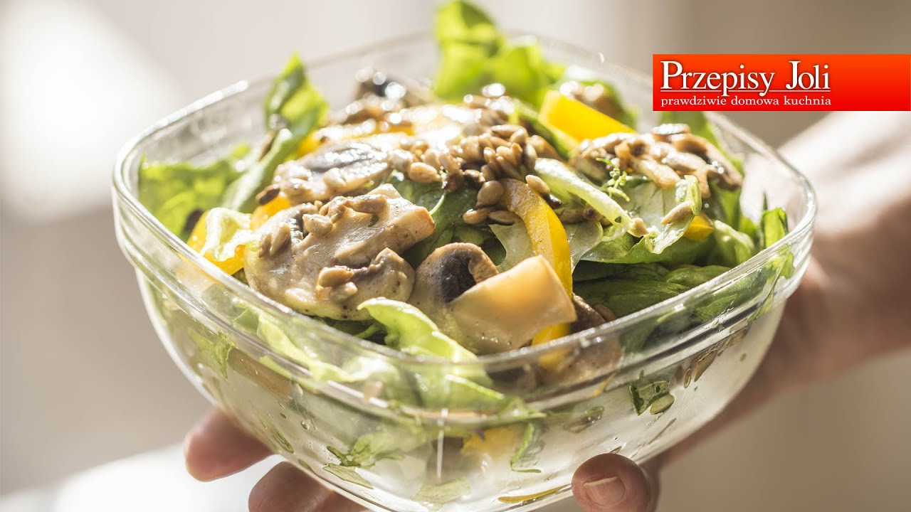 Salatka Z Pieczarkami Podstawy Gotowania Przepisyjoli Com