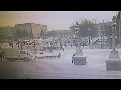 Момент ДТП в центре Улан-Удэ