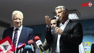 باكيتا يهدي «سبحة» لمرتضى منصور (فيديو)