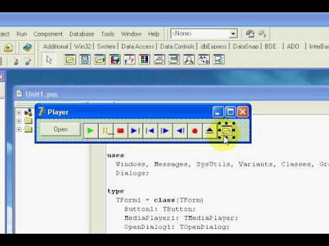 Delphi 7 MediaPlayer (Easy Path)