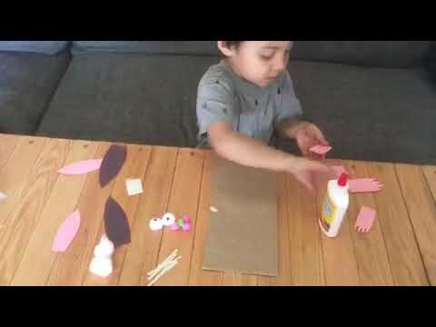 MAKING A PUPPET BUNNY OUT OF A PAPER BAG!!