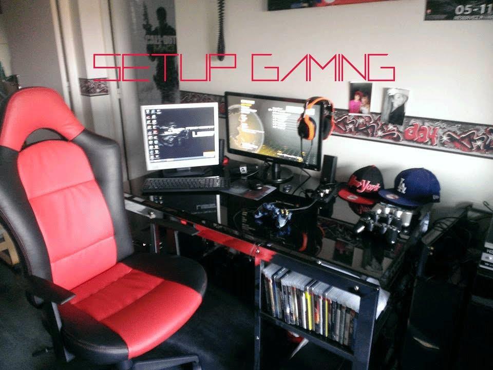 Setup gaming de jeune joueur et youtubeur youtube for Bureau youtubeur