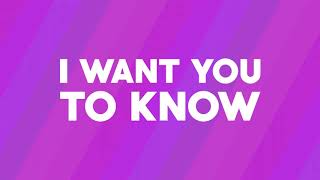 Slushii - Want You To Know (Official Lyric Video)
