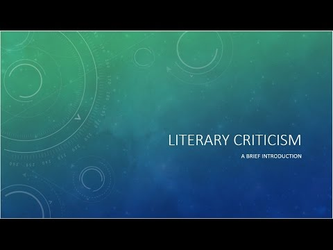 Literary Criticism for ENG 124
