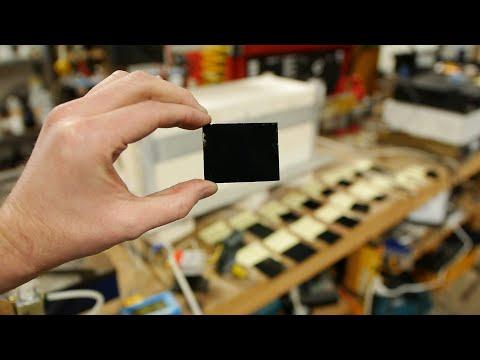 "Details in the process of making ""blacker than vantablack"" coatings (part 1?)"