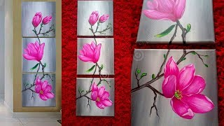 Acrylic painting - canvas painting - how to paint