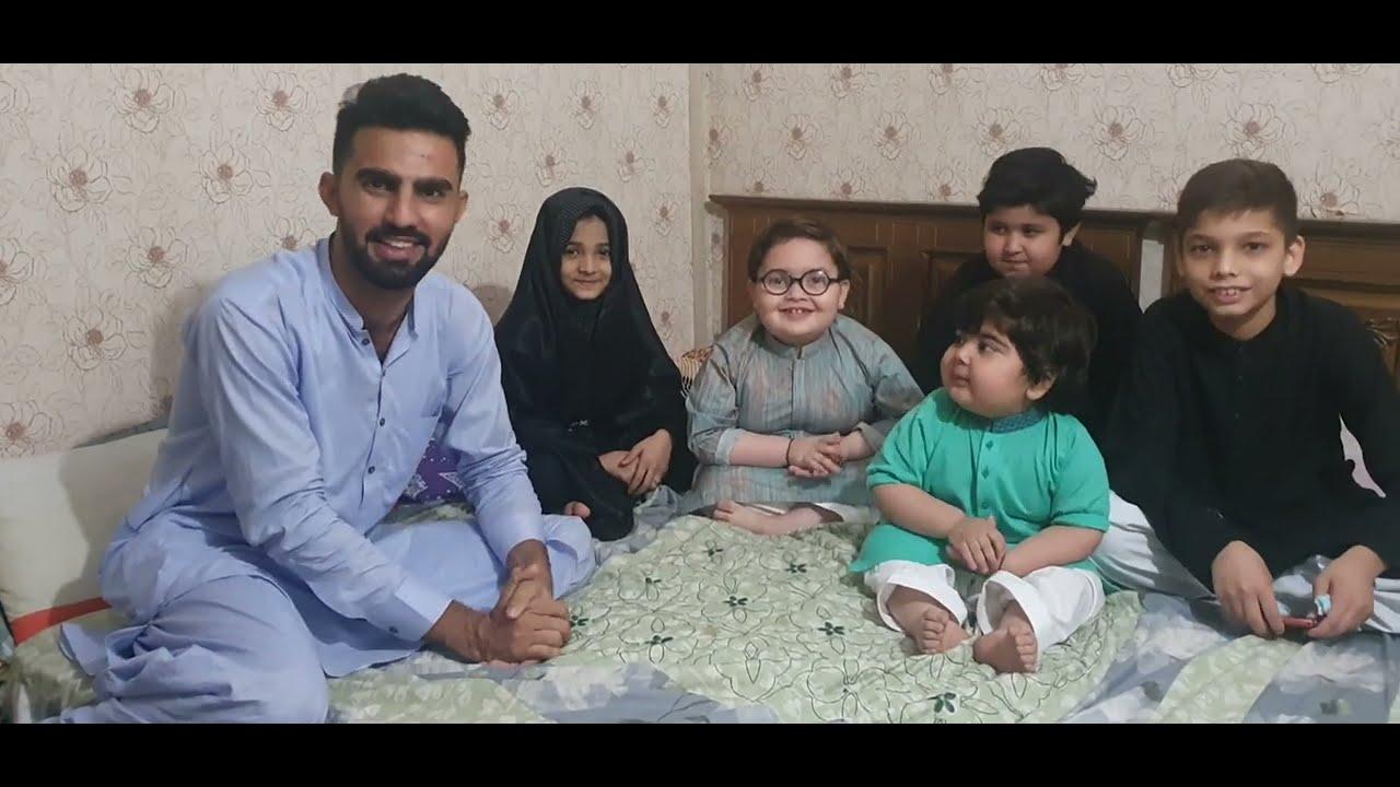 Cute Ahmad shah and His Brothers with Syeda Waleeha Batool and Hur Hussain❤