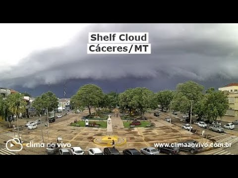 Shelf Cloud em Cáceres/MT, veja a formação - 15/01/21