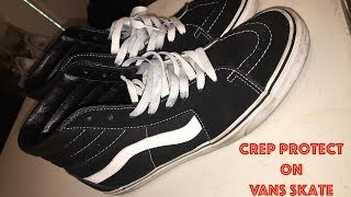 CREP PROTECT ON VANS SKATE HIGH (INTENSE CLEANING!)