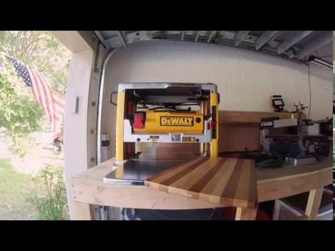 TOOL REVIEW : 12 1/2 in DEWALT bench top planer