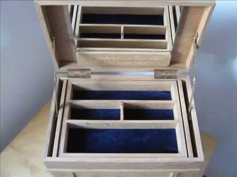The making of the oak jewelry box