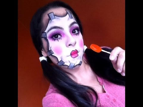 Halloween Porcelain Doll Tutorial - YouTube