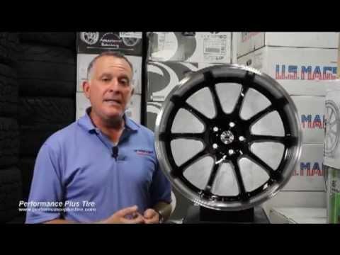 Konig Wheels - Lightning Black with Machined Lip -- Performance Plus Wheel & Tire Review