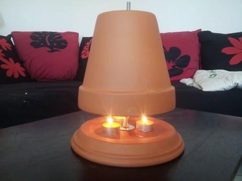 chauffage d appoint avec des r chauffe plat peut faire lampe de jardin youtube