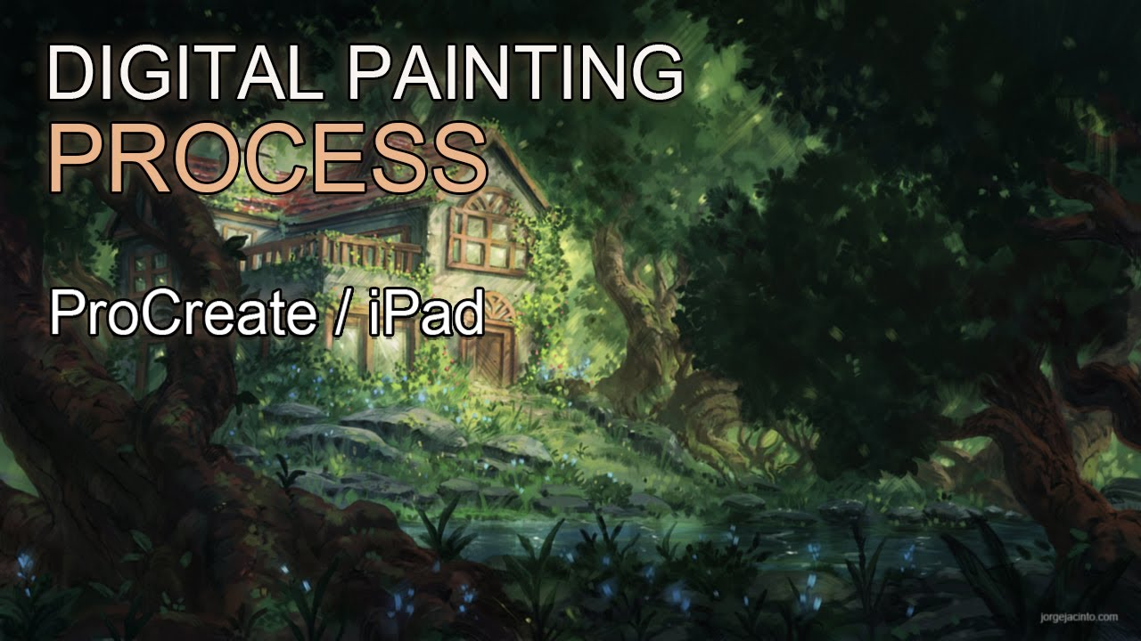 Ipad Procreate Digital Painting Forest House Time