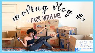 I'm MOVING OUT!!! | Moving VLOG #1: PACK WITH ME + FURNITURE SHOPPING