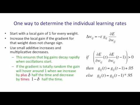 Neural Networks for Machine Learning 5 3 Adaptive learning rates for each connection