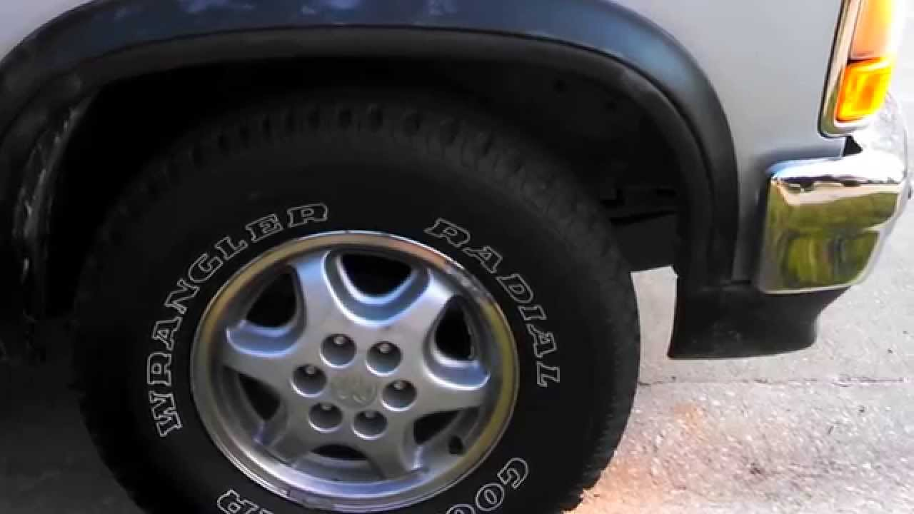 New Goodyear Wrangler Radial Tires On 95 Dodge Dakota