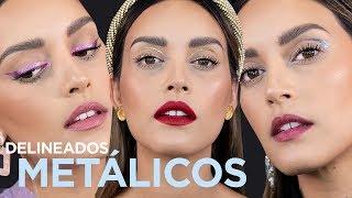 3 LOOKS CON DELINEADOS METÁLICOS | PAU FLORENCIA