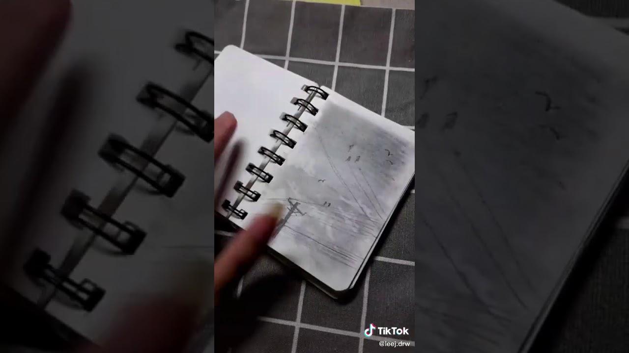 Cách vẽ mây bằng bút chì