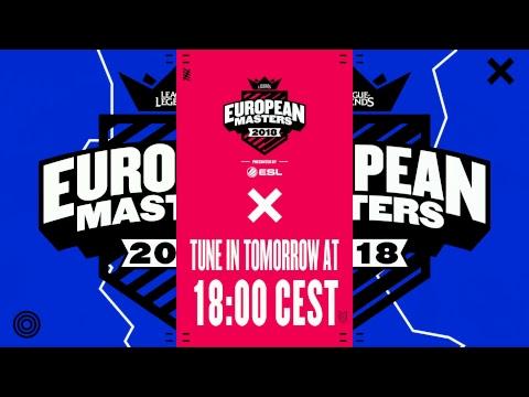 [🔴] EU Masters Spring Split Play-ins 2018 - Day 1