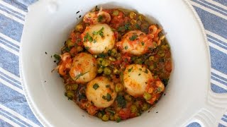 Italian Recipe: Cuttlefish With Tomatoes And Peas - Mediterranean Recipe [recipe Diary]