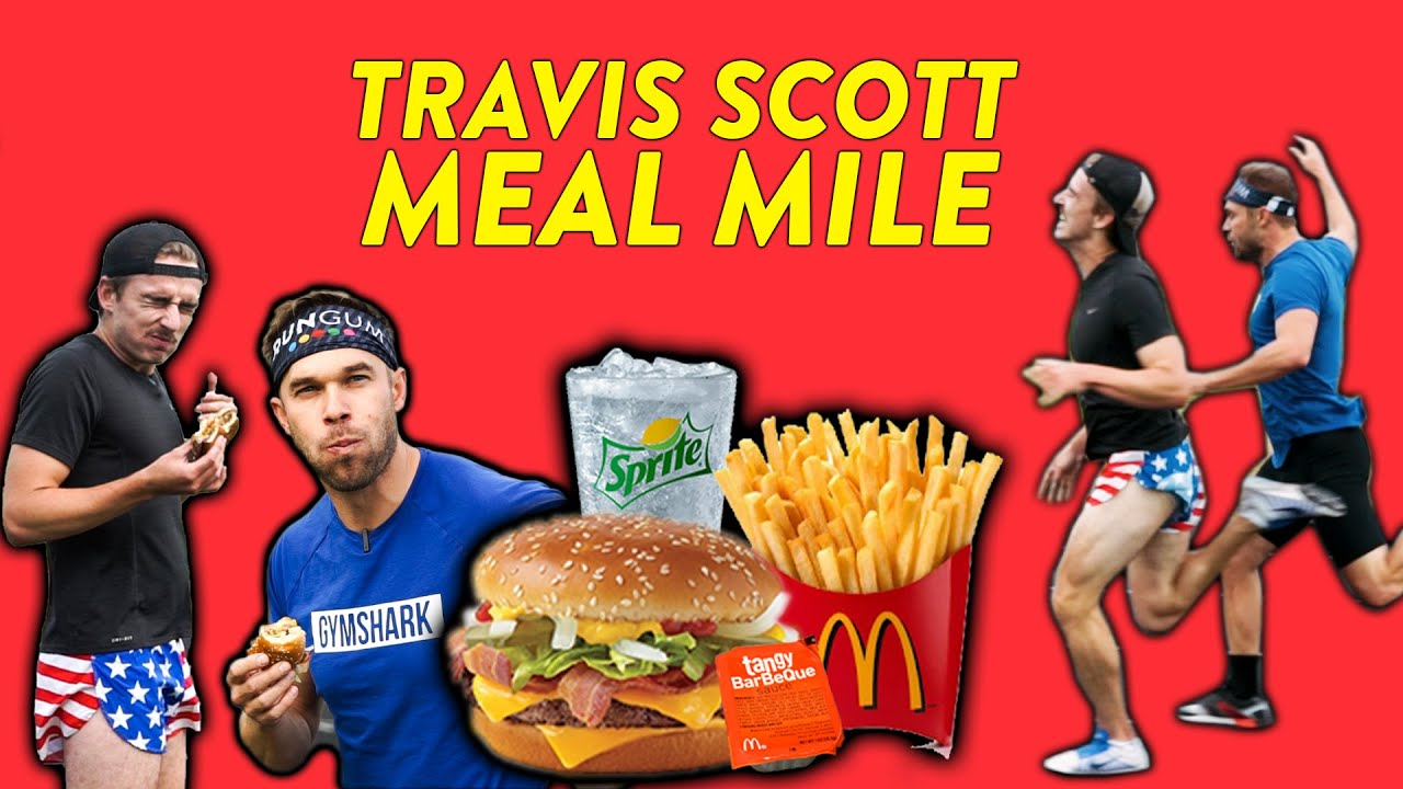 Eating the Travis Scott Meal then Racing a Mile!