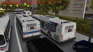 omsi 2 tour (1659) 加拿大 Toronto Bus 132E Sheppard Street - Hillside @ TTC New FLyer DE40