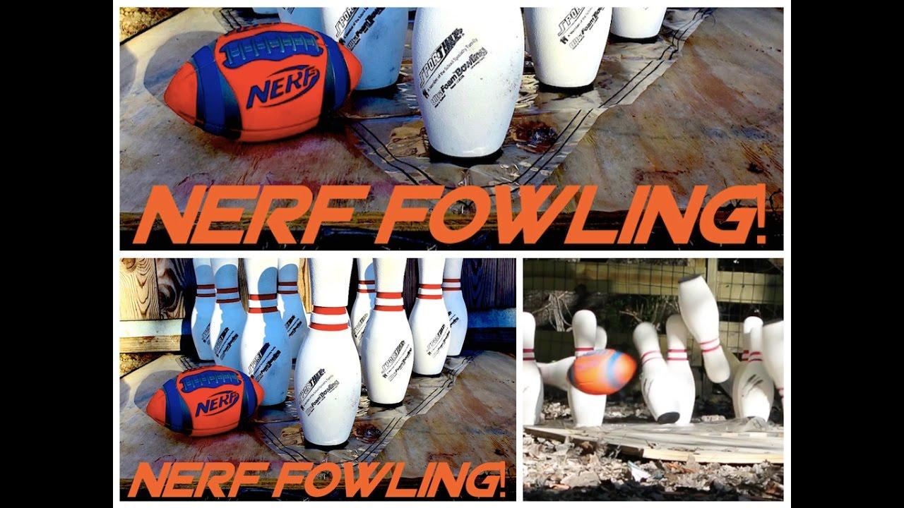 nerf fowling nerf football bowling family backyard game how