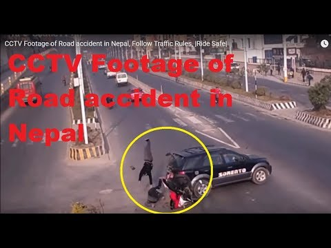 Live CCTV Footage of Road accident in Nepal, Follow Traffic Rules, |Ride Safe|