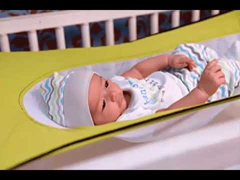 Medium image of baby crib hammock   baby hammock hung in crib