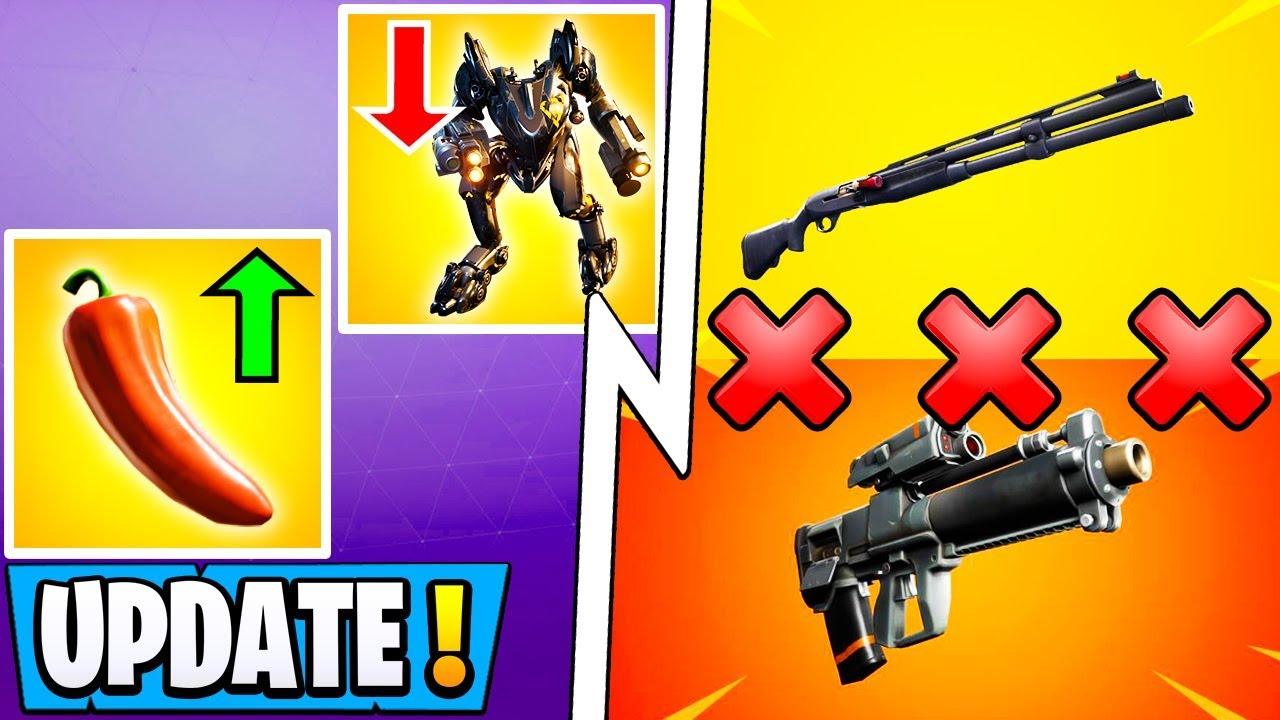 *ALL* Fortnite 10.2.2 Changes! | Combat Shotgun Vault, Sniper Update, Peppers! #1