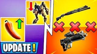 *ALL* Fortnite 10.2.2 Changes!   Combat Shotgun Vault, Sniper Update, Peppers!