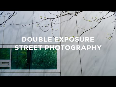 Double Exposure Street Photography Challenge w/ the FUJI X100V & XE4 !
