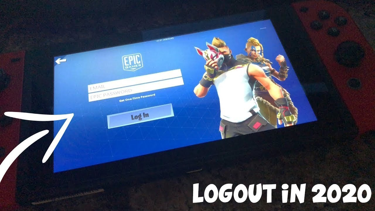 Easiest Way To Logout On Fortnite Nintendo Switch In 2020 Connect Epic Games Account To Switch Youtube
