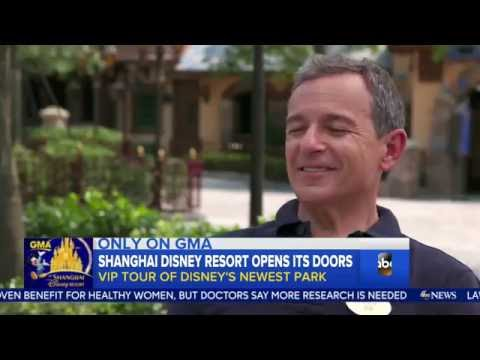 ABC Report at Shanghai Disney Resort with Bob Iger