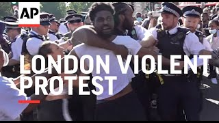 Black Lives Matter protest turns violent in London