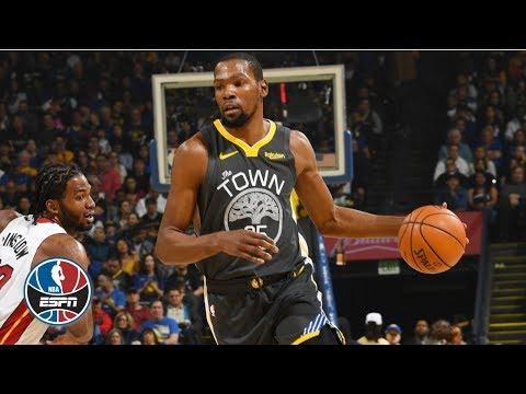 Kevin Durant leads Warriors with 39 points in win vs. Heat | NBA Highlights